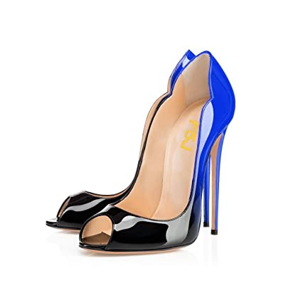 Amazon.com   FSJ Women Slide Peep Toe High Heels Pumps Sexy ...