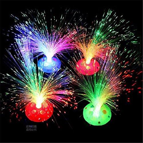 Mingruie Multicolor Fiber Optic Lamp Light Holiday Wedding Centerpiece Fiber optic LED -  GD-95051