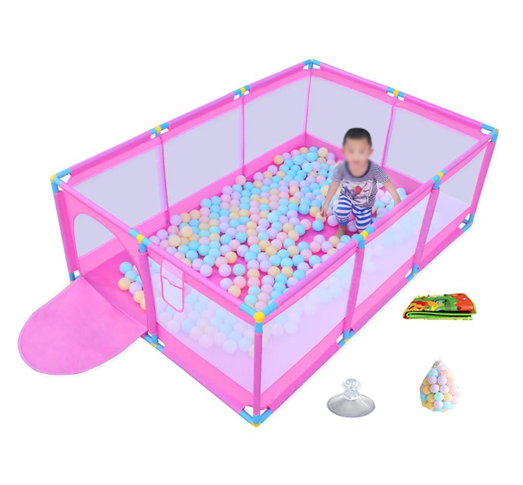 マットと200オーシャンボール、10パネルエクストララージセーフティプレイヤード赤ちゃんのための大きいギフト幼児幼児子供、L190XW128XH66CMとポータブルメッシュベビーベビーサークル (色 : Style1)  Style1 B07MZRZ38J