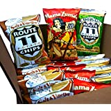 Route 11 Potato Chips, Combo Pack, kettle cooked in small batches, all natural, peanut free, gluten free, sustainable (Adventure Combo)