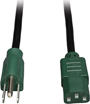15ft 18AWG Computer Power Cord Cable NEMA 5-15P to C13 UL//CSA for PC//Monitor//etc