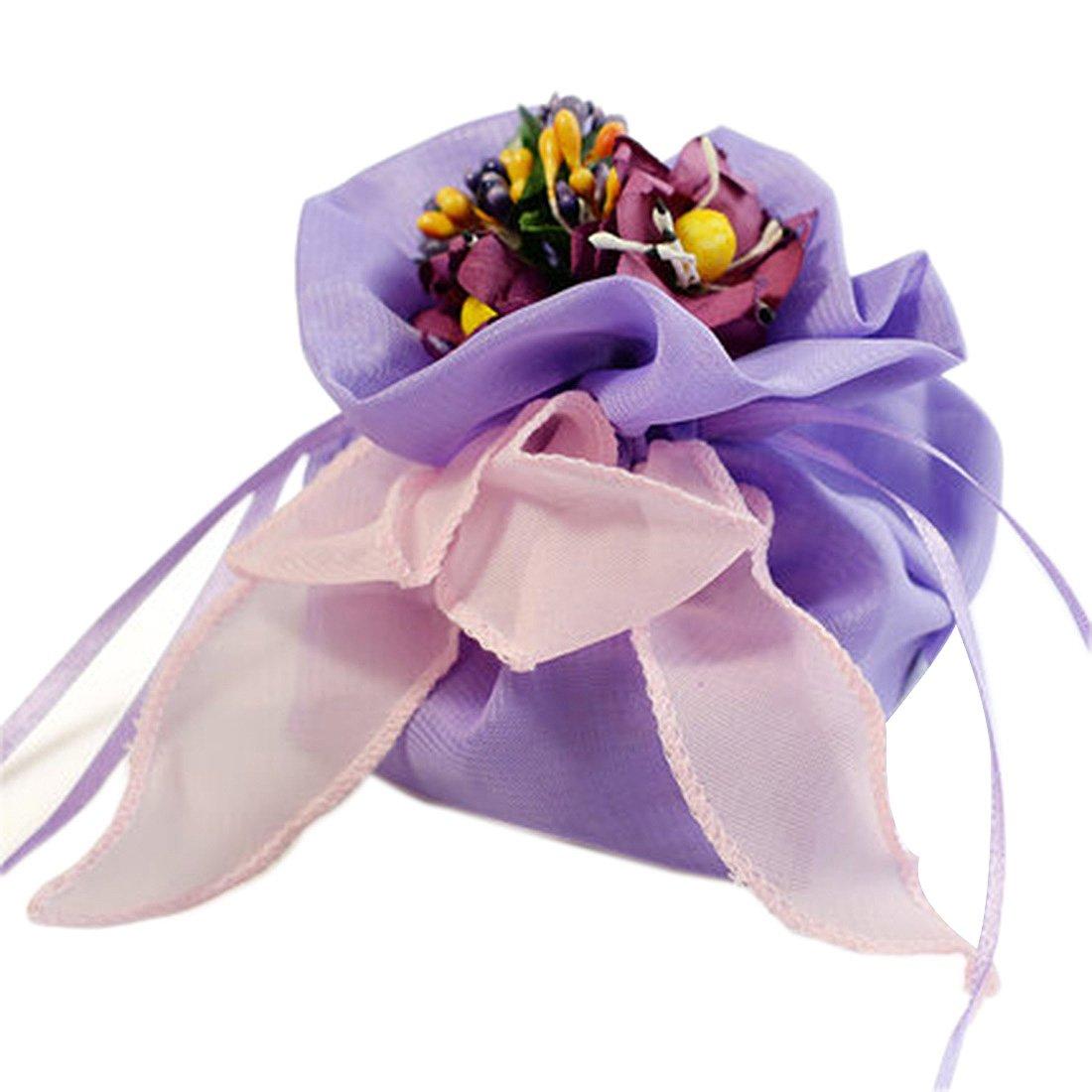 autulet Kids Party Bags Unique Purple Wedding Favors Party Favor Ideas Organza Gift Bags High-End Gifts 10Pieces