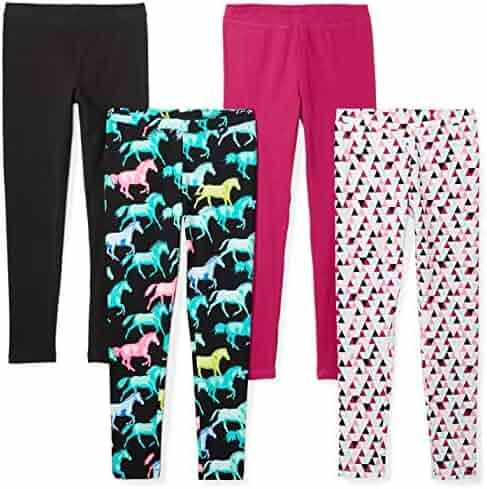 Spotted Zebra Girls' 4-Pack Leggings