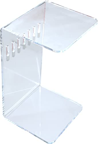Combination of Life C-Shaped 1 2 Thick Acrylic Sofa Side Slide End Coffee Table 23 Hx14 Wx12.5 D Clear