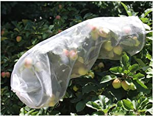 AllwaySmart 6 Extra Large Fruit Protection Bags Against Birds Bugs Fly Fruit Cover Bags for Garden Protective Sleeves Apple Tree Covering Netting Net for Peaches Plums Nectarines 1.3 ft x 3ft
