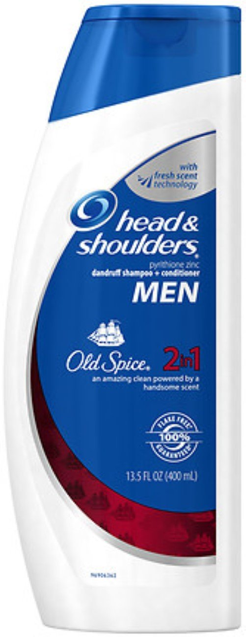 Head&Shldr 2in1 W/Old Spi Size 13.5z H&S 2in1 W/Old Spice 13.5oz