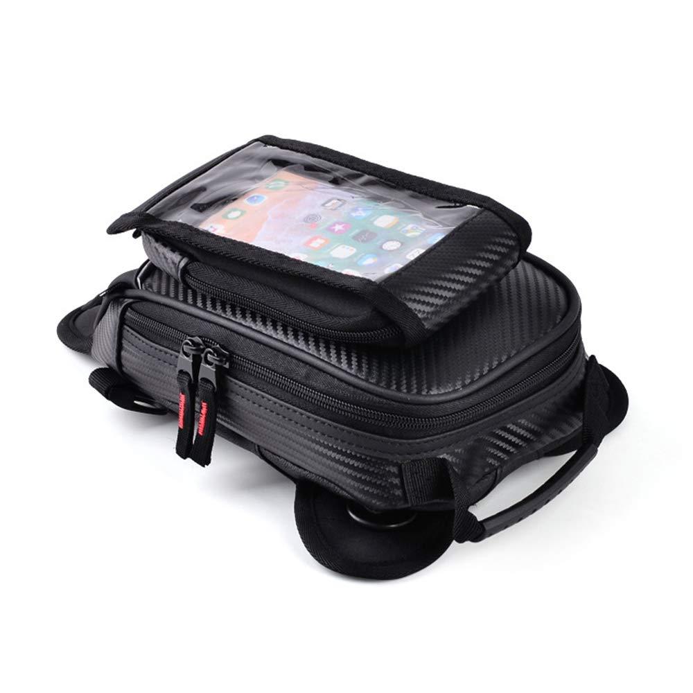 Sac De R/éServoir Cb-1607 /ÉTanche Cuir PU Forte Magn/éTique D/éTachable Poche pour T/éL/éPhone Portable /à/éCran Tactile Moto Sac De Jambe