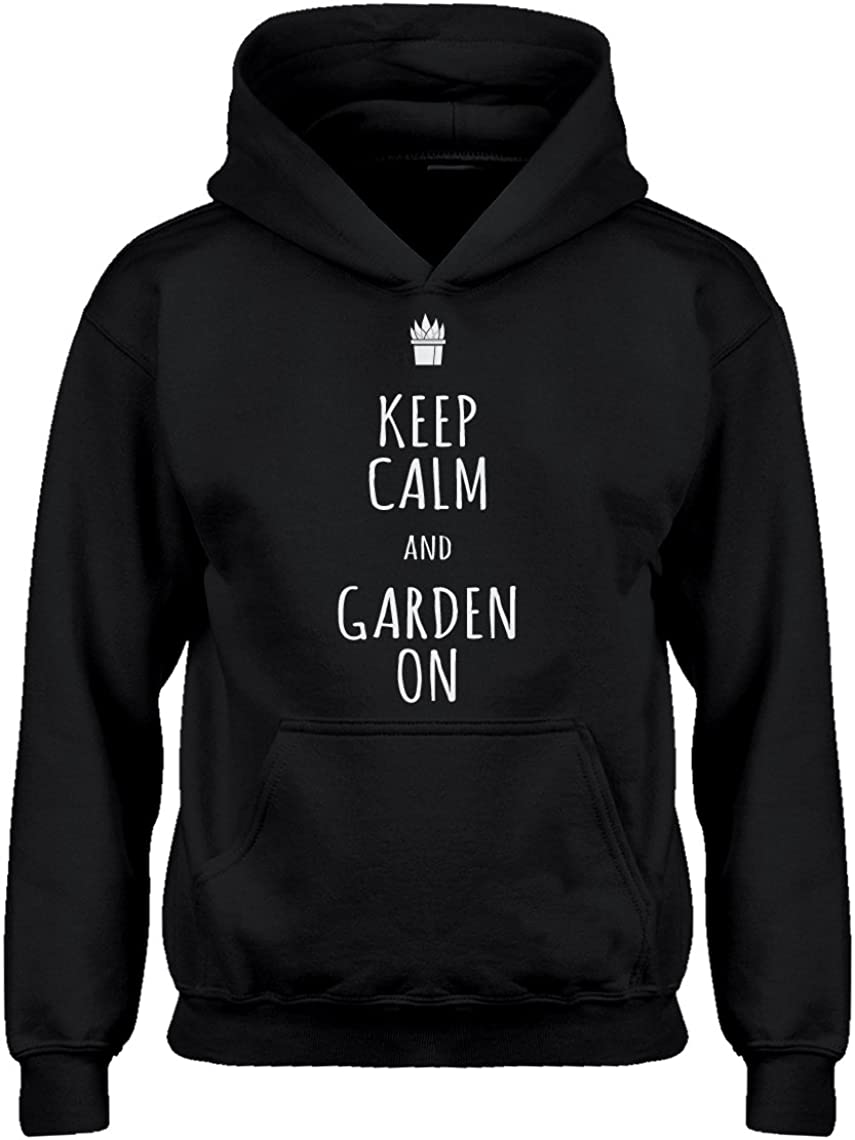 Indica Plateau Youth Keep Calm and Garden On Kids Hoodie