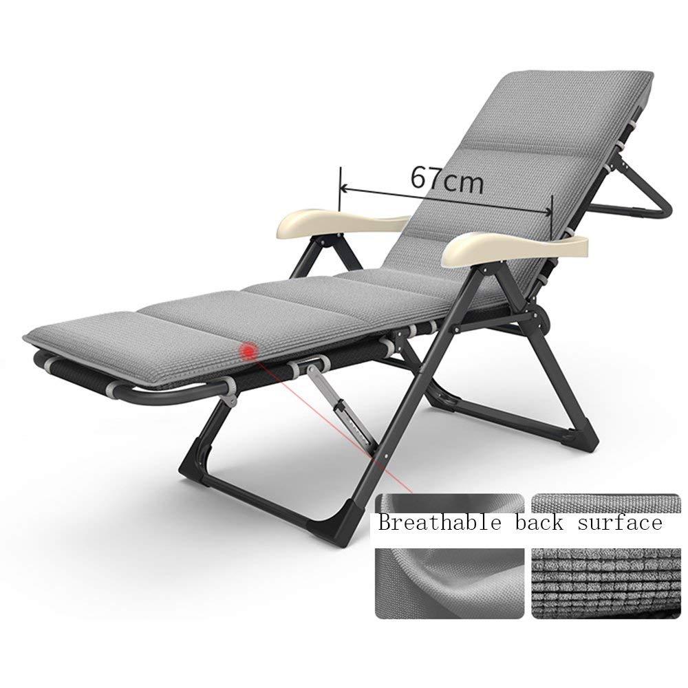 ロッキングチェアホーム折りたたみチェアオフィスランチ休憩お昼寝ベッド怠惰な椅子ビーチチェアフットレストバック7レベル調整可能,a B07T49GKH7 a