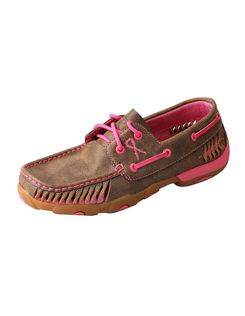 Twisted X Casual Shoes Womens Lacing Driving Mocs Bomber Pink WDM0089 B078TQTN35 9 B(M) US|Bomber Pink