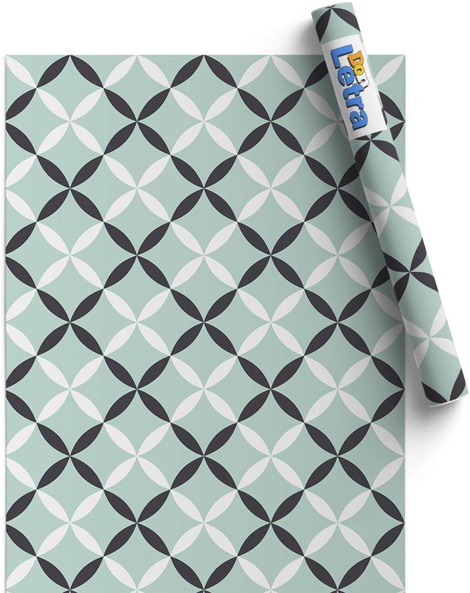 Vinilo Decorativo para Hogar Ba/ño y Oficina 45x200cm Resistente DON LETRA Papel Adhesivo de Vinilo para Muebles y Pared V-MUPA-036 Impermeable y Removible Cocina Turquesa Elegante