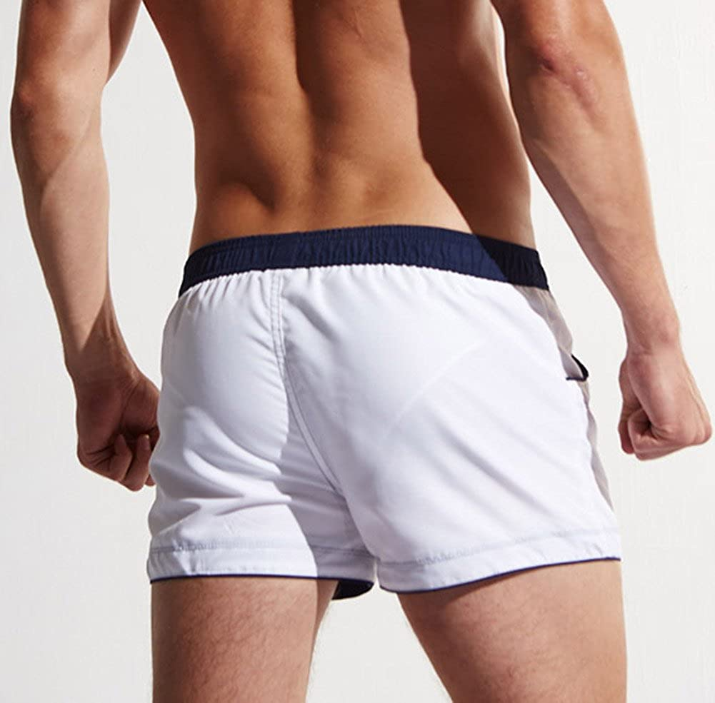 Mendove Mens Active Beach Board Workout Jogger Trunks with Pockets