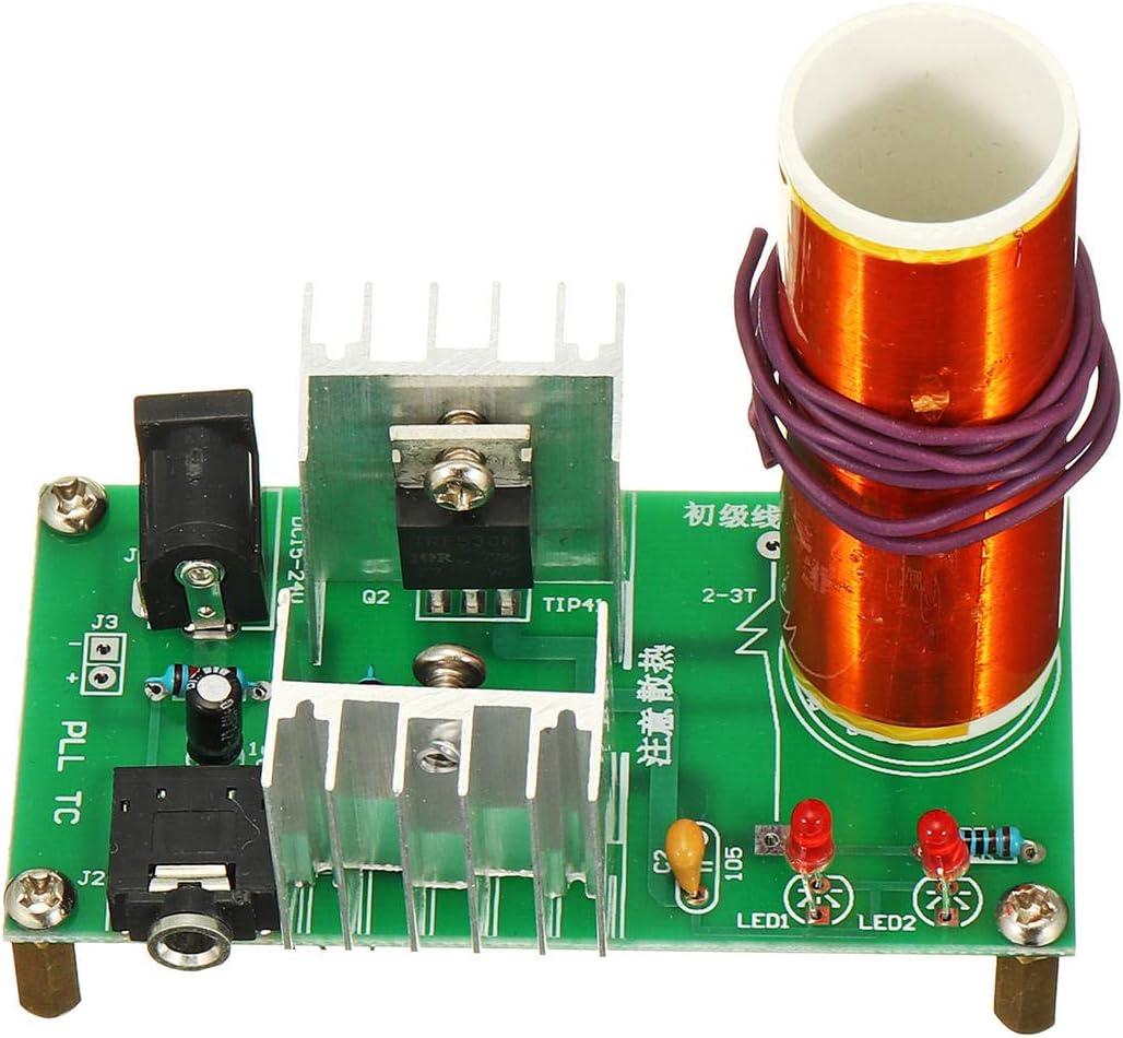 Módulo electrónico 3pcs altavoz de plasma 2A DIY mini bobina de Tesla Módulo sin montar 15W 15-24V DC Electronic Kit Equipo electrónico de alta precisión
