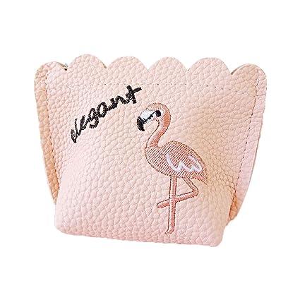 bambino Liquidazione del 60% nuovo prodotto Qinlee Mini Portamonete Ricamato Flamingo Stampa Portafoglio ...