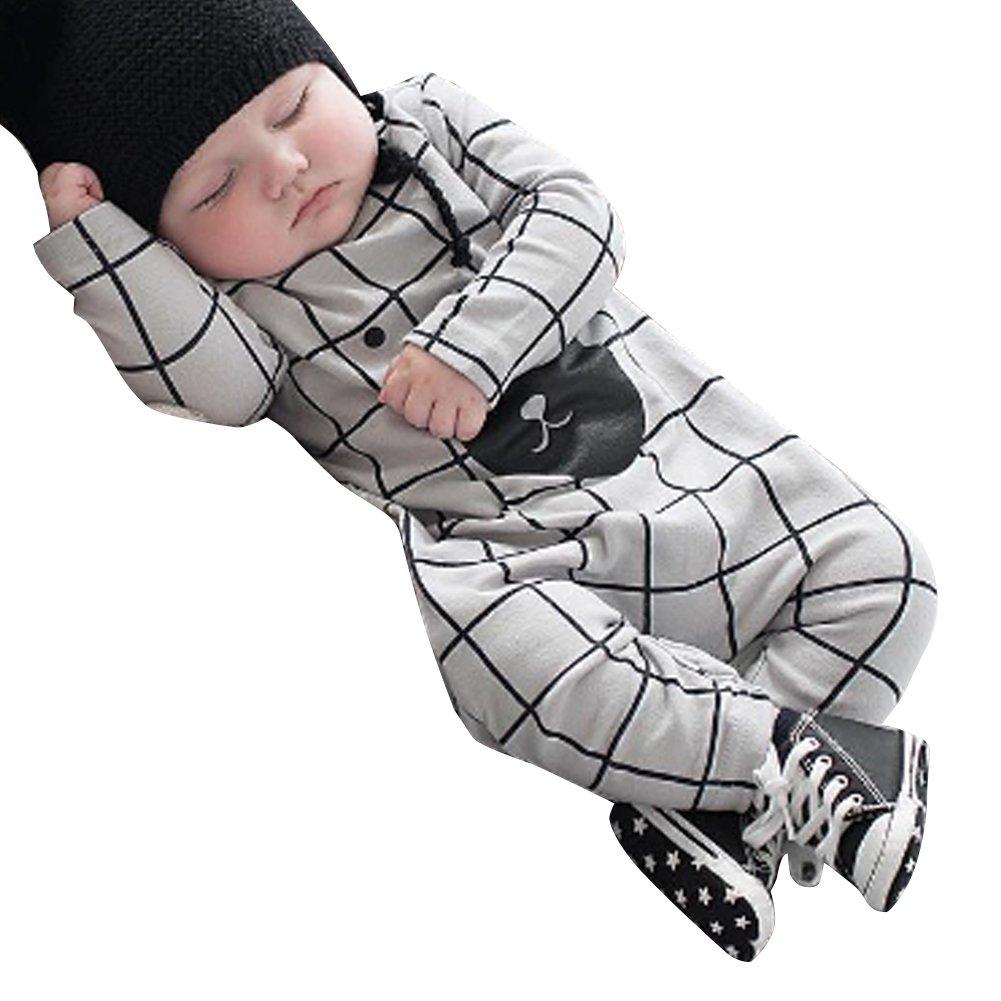 La Cabina Mignon Vêtement Bébé Fille Girl Garçon Boy Combinaison Barboteuse Tops à Manches Longue + Culotte Dessin Lapin Vêtement de Ramper Mignon 124736