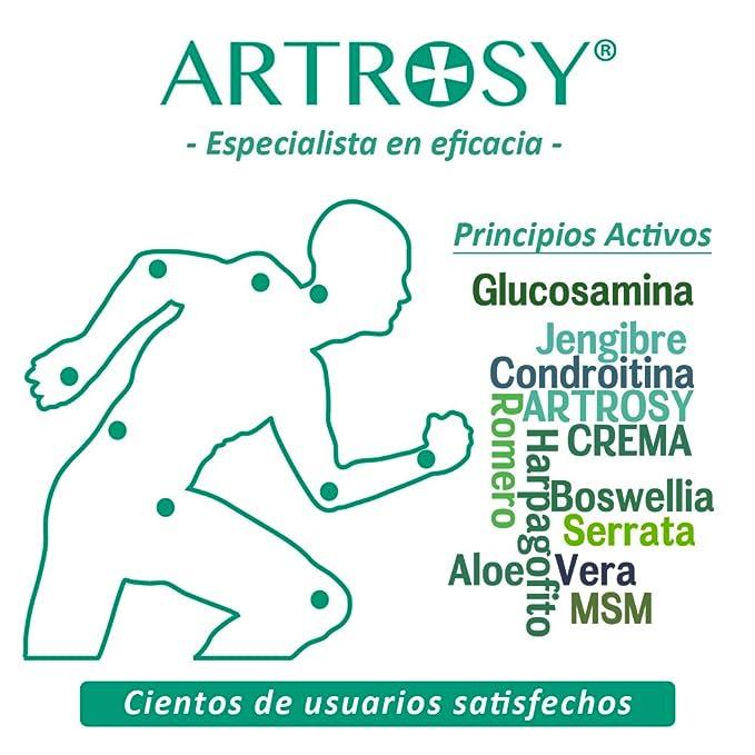 ARTROSY - Tubo 60 ml - Crema natural de muy rápida acción y alta eficacia en problemas con las articulaciones. Dolor, inflamación y falta de movilidad en ...
