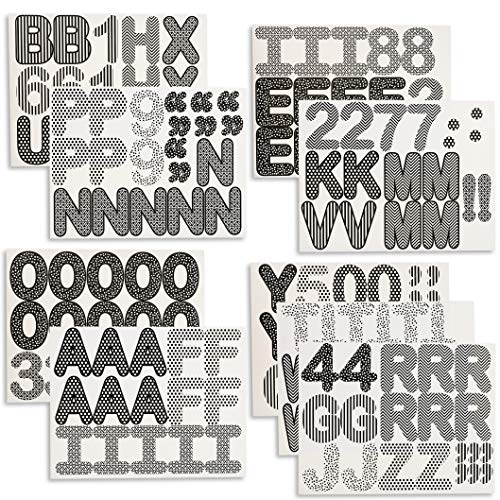 Juvale Bulletin Board Alphabet Letters and Numbers (144 Count)
