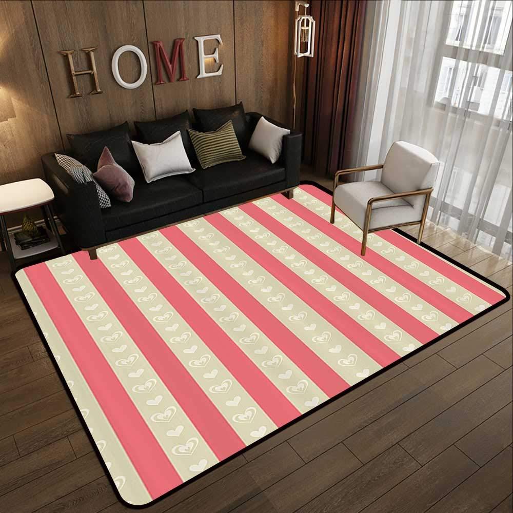 Pattern02 47 x 59 (W120cm x L150cm) Carpet mat,Retro,Traditional Scottish Tartan Pattern Classic Symmetric Vintage Checkered Striped Tile,Multicolor 63 x 94  Floor Mat Entrance Doormat