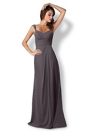 ANGELWARDROBE Bridesmaid Prom Dress Length Evening Gray-6