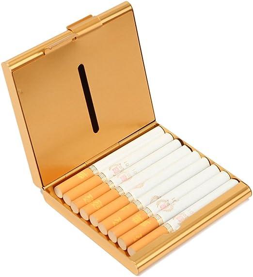 ECYC Caja De Cigarrillos De Aluminio Almacenamiento Contenedor De ...