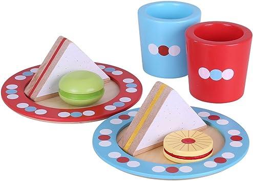 Bigjigs Toys BJ619 Wooden Tea Time Play Set Pretend Play