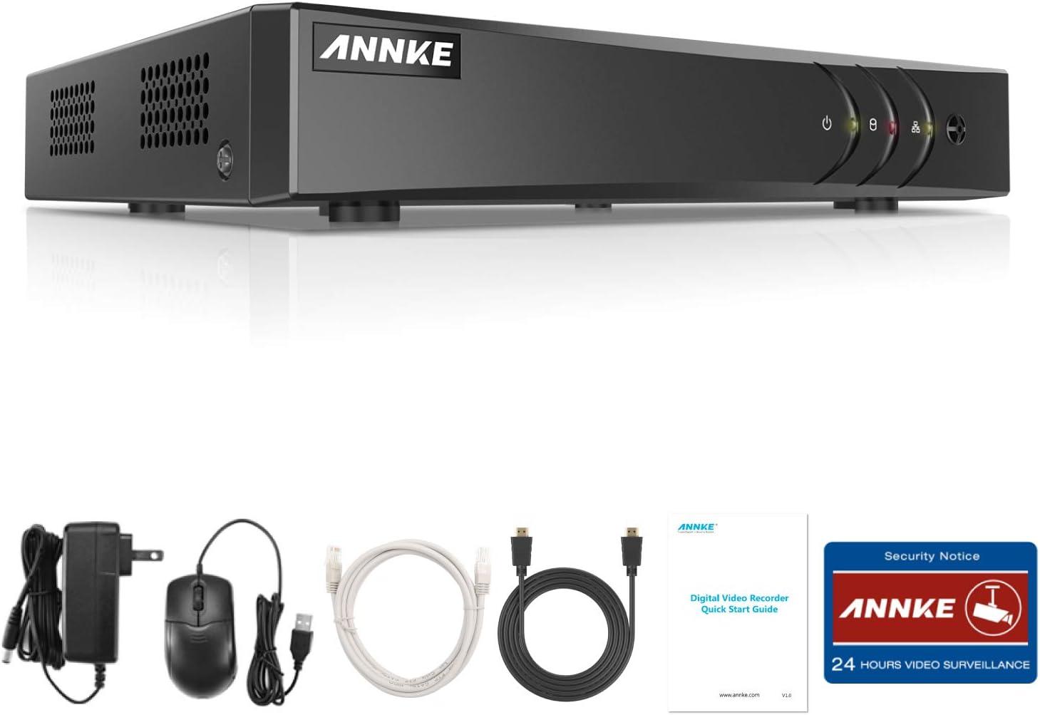 ANNKE 8CH DVR 5MP Lite sin Disco Duro de Vigilancia para Sistema de Videovigilancia Grabador de Cámara de Seguridad (Onvif H.265+ Enchufar y Usar Detección de Movimiento, Android/iOS APP)-sin HDD
