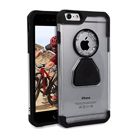 newest collection 9aa1b fc0f7 Rokform Crystal Series Case/Cover for iPhone 6/6s Plus, Slim, Rugged, Ultra  Protective, Reinforced TPU Corners Molded to Tough Polycarbonate, Mounts ...