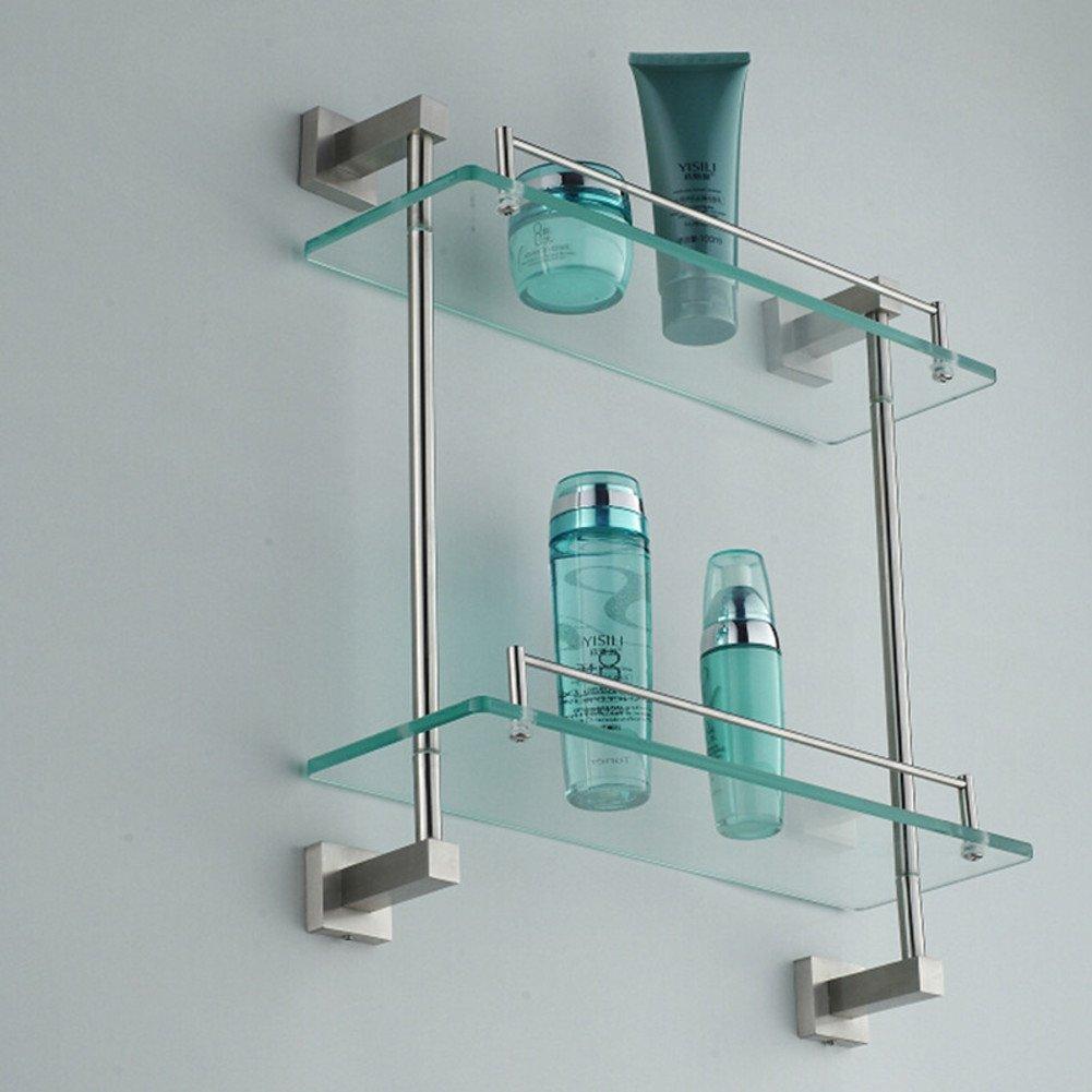 60%OFF stainless steel glass racks/Bathroom Wall bathroom shelf-B ...