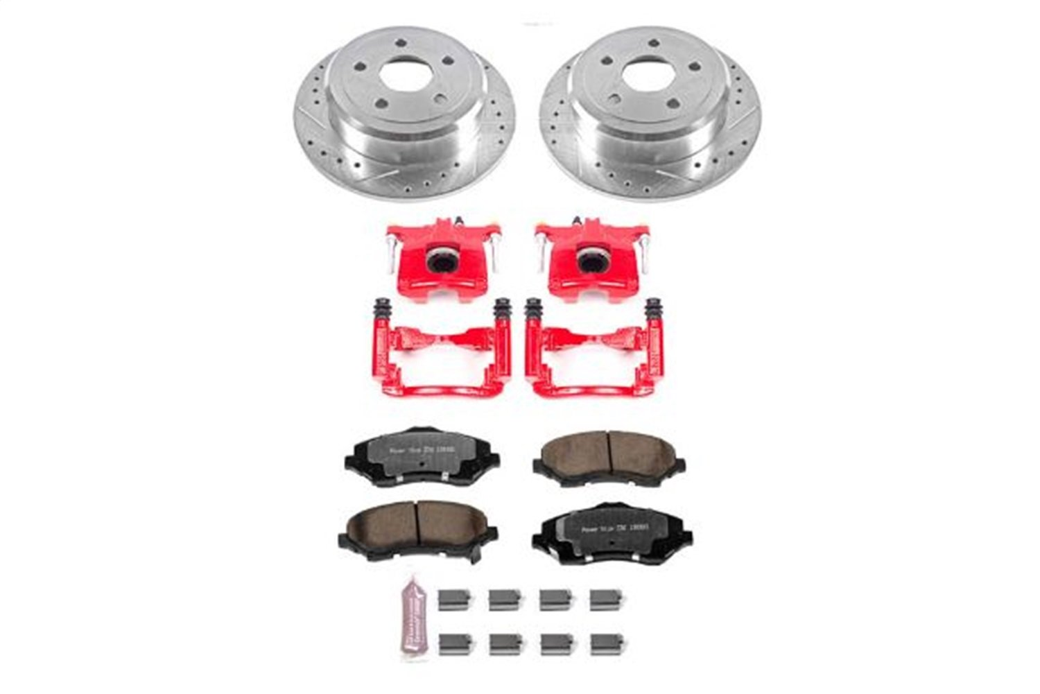 Power Stop KC3090-36 Rear Z36 Truck and Tow Brake Kit with Calipers