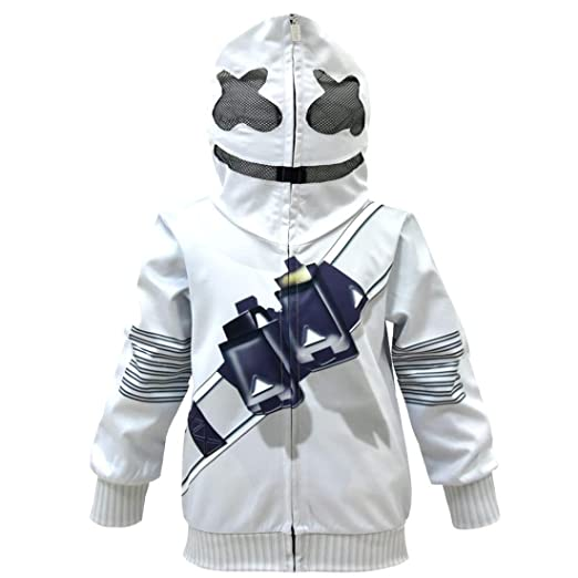 QYS DJ Marshmellow Costume Kids Fancy Party Dress Máscara ...