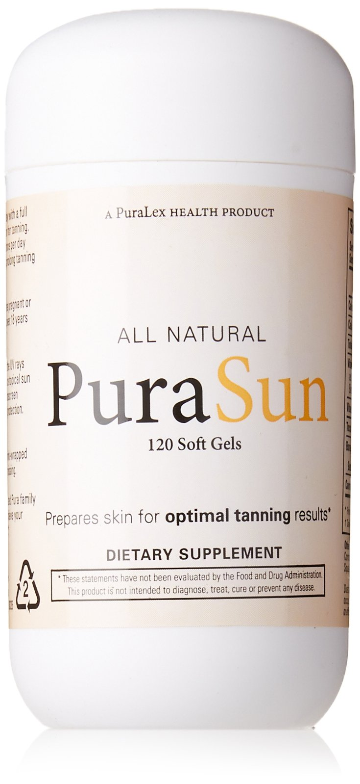 Amazon.com: PuraSun All Natural Dietary Supplement, 120 Soft Gels: Health & Personal Care