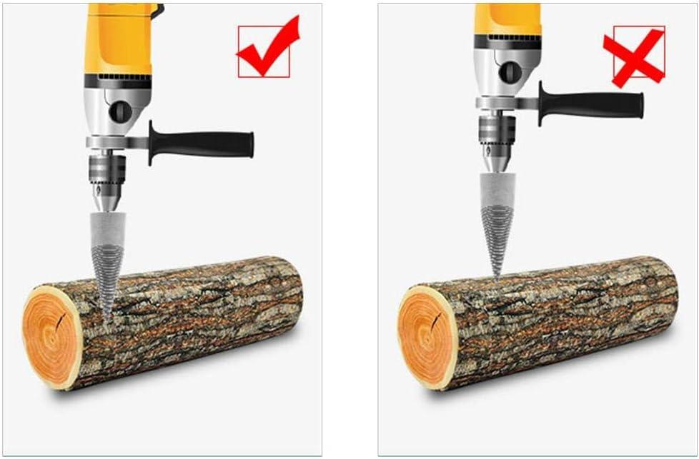 vis de fendeuse de b/ûches de bois tournevis /à c/ône de forage robuste outil de coupe de bois portable pour perceuse /à main en cuivre M/èche de fendeuse de bois