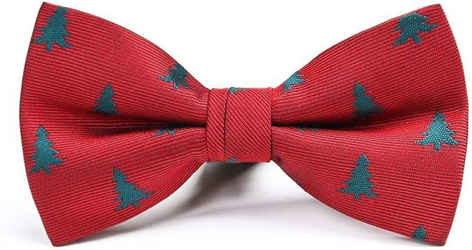 YYIILL Corbata de moño Regalo de vacaciones del árbol de navidad ...