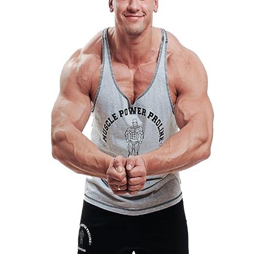 398b3d3e5 Alivegear Men's Stringer Bodybuilding Tank Tops Workout Fitness Y Back  Cotton 2 cm Shoulder Strap Black