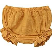 Carolilly Bermudas Bebé de Algodón Pantalones Cortos para Niña Ropa Interior Shorts Verano para Baby Girl (9 Meses-5…