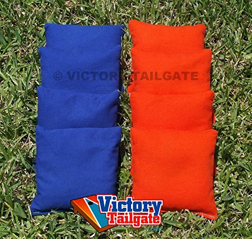 Weather Resistant Cornhole Bags (Set of 4) Color: Orange and Royal Blue (Blue And Orange Corn Hole compare prices)