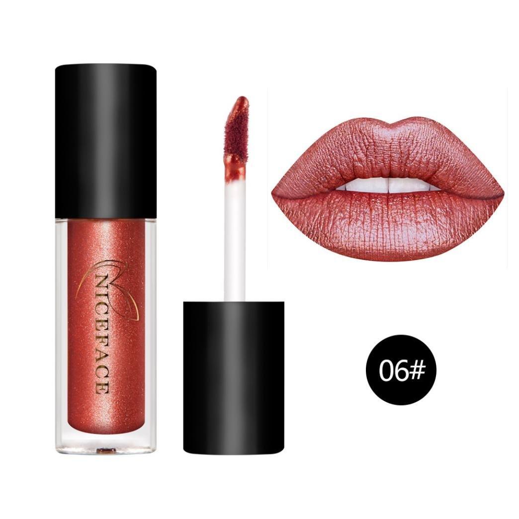Hot Sales! DEESEE(TM) Sexy Long Lasting Waterproof Liquid Lipstick Lipstick Cosmetic Beauty Makeup (F)