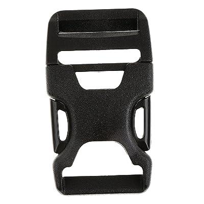 1pcs Boucle Latérale pour Sac à Dos Bretelles Réglables Bracelet Paracorde Noir 25mm