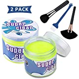 Sendida Car Cleaner Putty Detailing Brush - 2 Pack Auto Gel Interior Cleaner Putty Glue with Brushes Set for Cleaning PC Tablet Laptop Keyboards Car Vents Cleaner Slime Goop Detailer