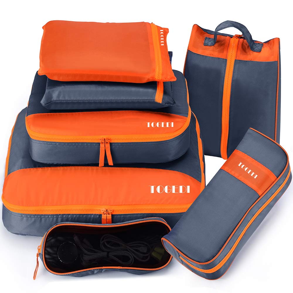 Packing Cubes for Travel Luggage Organizers 7 Set Suitcase Travel Accessories Cubes with Laundry Bag