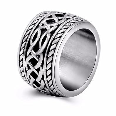 2325584710a15 Mens Vintage Stainless Steel Celtic Wedding Bands Prime Wide Band Ring for  Men US Size 8 9 10 11 12 13