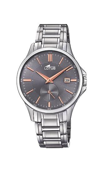 Lotus Watches Reloj Análogo clásico para Hombre de Cuarzo con Correa en Acero Inoxidable 18423/3: Lotus: Amazon.es: Relojes