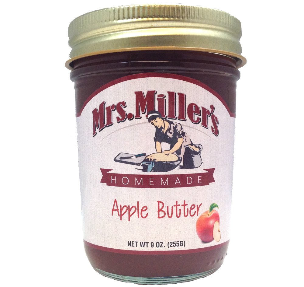 Favorite FRUIT BUTTERS Gift Assortment Box - 3 Jar Sampler, Variety Pack of Apple, Pumpkin and Pear Butter (9 oz full-sized jars) by Mrs. Miller's in a Gold Scroll Gift Box by Jarosa Gifts by Mrs. Miller's (Image #5)
