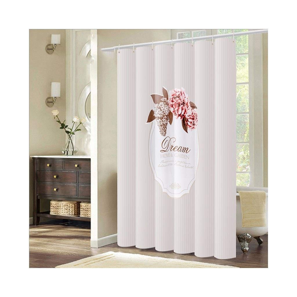 LQQ Mold Mildew Shower Curtain- Mildew Waterproof Shower Curtain, Thickened Set Free Punch, Toilet partition Curtain, Bathroom Curtain. -Cartoon Bathroom Curtain by LQQ (Image #1)
