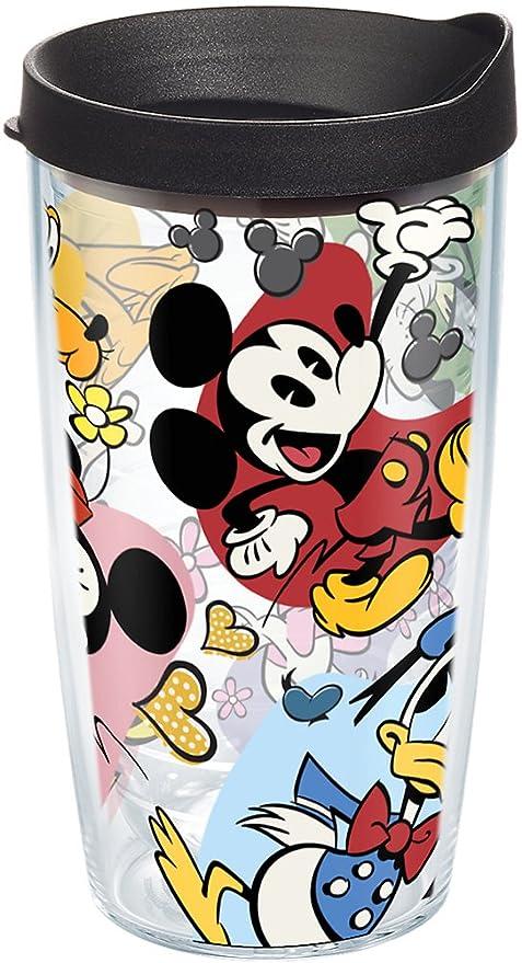 16/oz Tervis 1227842/Disney Class Charakter Friends Wrap Becher mit Deckel schwarz
