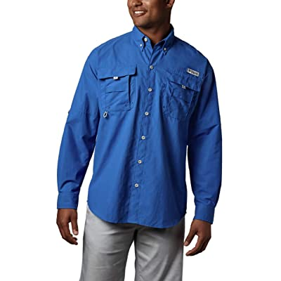 Columbia Men's Bahama II Long Sleeve Shirt, 4X/Tall, Vivid Blue: Clothing