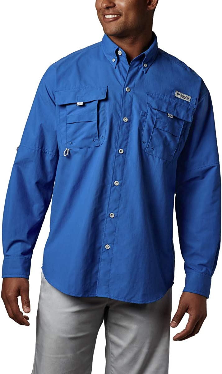Columbia Mens PFG Bahama Ii Long Sleeve Shirt: Clothing