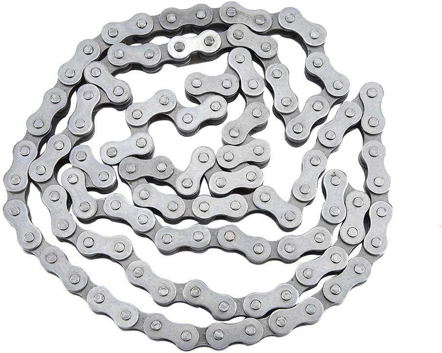 KIMISS Cadena de material de acero inoxidable, 415-110L Cadena de eslabones Cadena de motor automático para 49cc 60cc 66cc 80cc Motor motorizado bicicleta: Amazon.es: Coche y moto