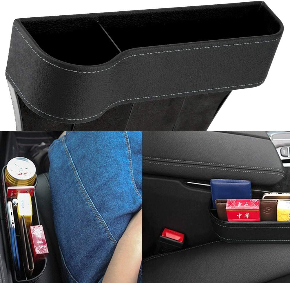 Dibiao Car Seat Gap Crevice Organizer Storage Box Case Water Cup Holder for Silverado,RAV4,CR-V