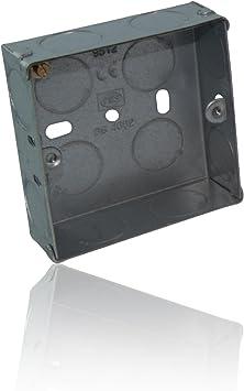 CDL Micro diseño Simple de Metal caja/caja de conexión empotrable 25 mm 1 Gang: Amazon.es: Electrónica